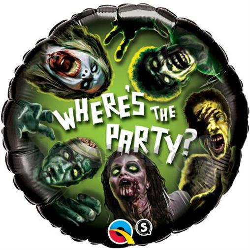 18 inch-es Zombie Party - Zombik Héliumos Fólia Lufi
