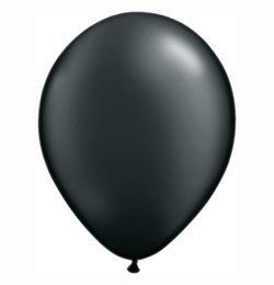 5 inch-es Pearl Onyx Black Kerek Lufi (100 db/csomag)