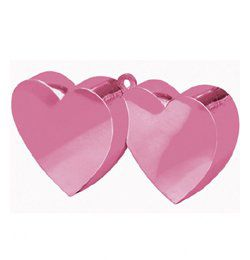 Magenta Rózsaszín Dupla Szív Léggömbsúly