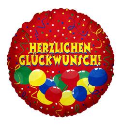 boldog születésnapot németül Herzlichen Glückwunsch Héliumos Fólia Lufi, 46 cm boldog születésnapot németül