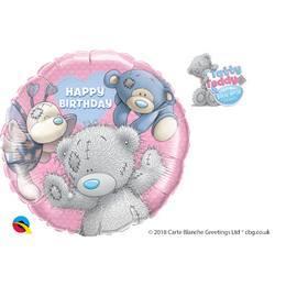 18 inch-es Blue Nose Friends Birthday - Macik Szülinapi Héliumos Fólia Lufi