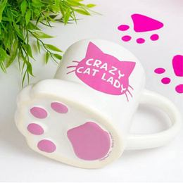 Őrült Macskás Hölgy Bögre