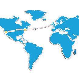 Mágneses Utazó Világtérkép