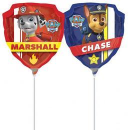Mancs Őrjárat - Paw Patrol Chase és Marshall Levegős Fólia Lufi Pálcán