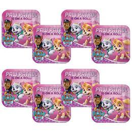 Mancs Őrjárat - Paw Patrol Pink Parti Tányér, 23 cm, 8 db-os