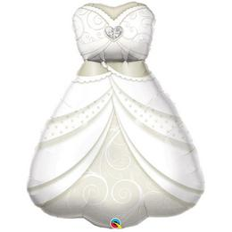 Mennyasszonyi Ruha Esküvői Héliumos Fólia Lufi, 97 cm