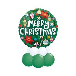 Merry Christmas - Karácsonyi Díszek - Zöld Asztali Lufidísz