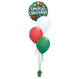 Merry Christmas - Karácsonyi Díszek - Zöld Léggömbcsokor