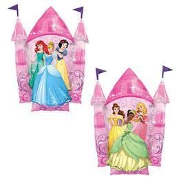 Mesebeli Disney Hercegnők Kastélya Héliumos Fólia Lufi, 88 cm
