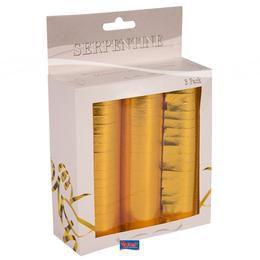 Metál Arany Szerpentin Csomag - 3 db-os