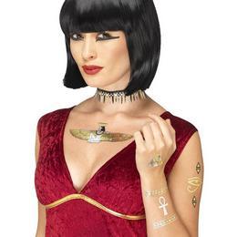 Metál Egyiptomi Mintás Tetoválás Szett