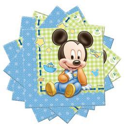 Mickey Baby Parti Szalvéta, 20 db, 33 cm x 33 cm
