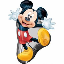 Mickey Mouse Full Body - Mickey Egér Super Shape Héliumos Fólia Lufi