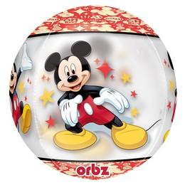Mikiegér Mintás Gömb Héliumos Lufi, 40 cm