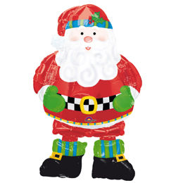Whimsical Santa Sétáló Télapós Héliumos Fólia Lufi