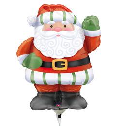 Whimsical Santa Mini Shape Télapós Fólia Lufi Pálcán