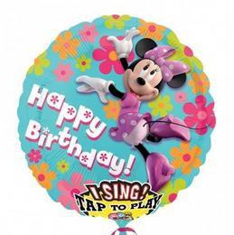 28 inch-es Minnie Egér - Minnie Mouse Éneklő Szülinapi Héliumos Fólia Lufi