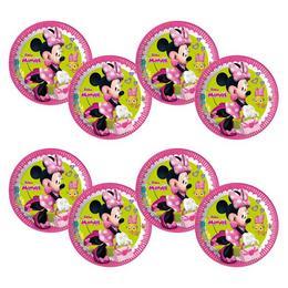 Minnie Happy Helpers Parti Tányér - 23 cm, 8 db-os