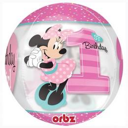 Minnie Egér - Minnie Mouse 1st Birthday Ultra Shape Orbz Lufi Első Szülinapra