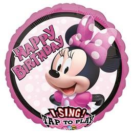 Minnie Egér - Minnie Mouse Éneklő Szülinapi Héliumos Fólia Lufi