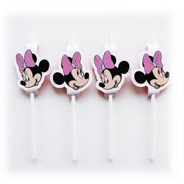 Minnie Egér - Minnie Mouse Parti Szívószál - 4 db-os
