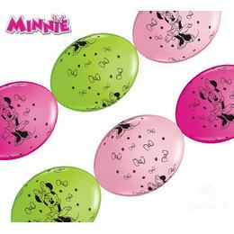 Minnie Egér - Minnie Mouse Party Banner Quick Link Lufi Füzér, 10 db-os