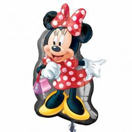 Minnie Mouse Full Body - Minnie Egér Pöttyös Ruhában Super Shape Héliumos Fólia Lufi
