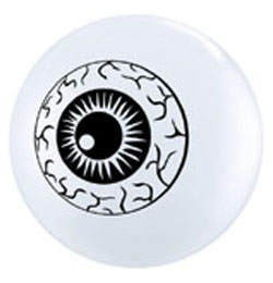 5 inch-es Eyeball TopPrint Lufi (25 db/csomag)