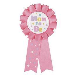 Pink Mom To Be - Kismama Parti Kitűző