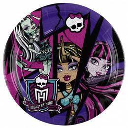 Monster High 2 Parti Tányér - 18 cm, 8 db-os