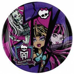 Monster High 2 Party Tányér - 23 cm, 8 db-os
