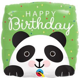 Mosolygó Cuki Panda Szülinapi Héliumos Fólia Lufi, 46 cm