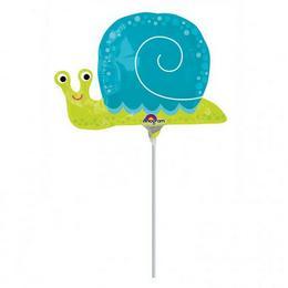 9 inch-es Happy Snail - Boldog Csiga Mini Shape Fólia Lufi