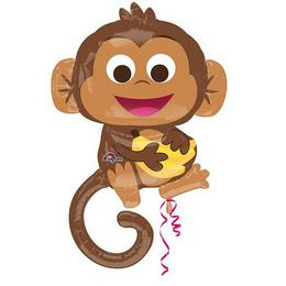 36 inch-es Happy Monkey - Boldog Majom Super Shape Fólia Lufi