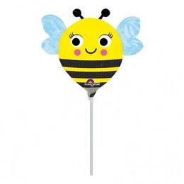 9 inch-es Happy Buzz n Bee - Boldog Méhecske Mini Shape Fólia Lufi