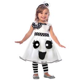 Mosolygós Szellem Lányka Jelmez Halloween-re - 3-4 éveseknek