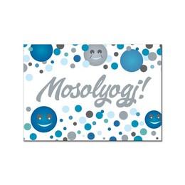Mosolyogj! Kék Pasztell Konfettis Hűtőmágnes