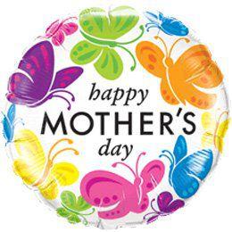 18 inch-es Mother's Day - Anyák Napi Pillangós Héliumos Fólia Lufi