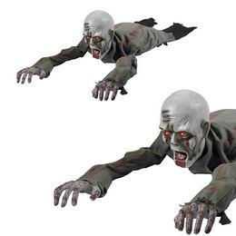 Mozgó-Kúszó Világító Szemű Zombi Halloween Dekoráció