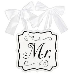 Mr. Feliratú Esküvői Dekorációs Tábla, 24 cm x 24 cm