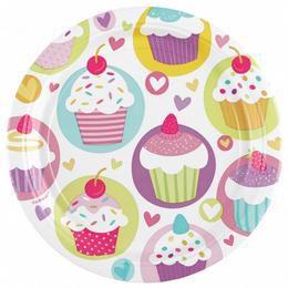 Muffin Parti Tányér - 23 cm, 8 db-os