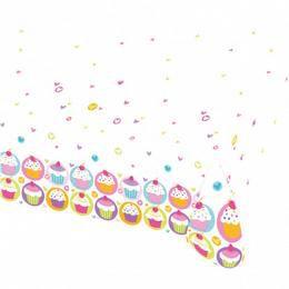 Muffin Parti Asztalterítő - 1,8 m x 1,2 m