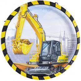 Munkagépek - Construction Site Parti Tányér - 23 cm, 8 db-os