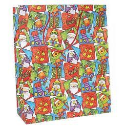 Nagy Karácsony Mintás Papír Ajándéktasak