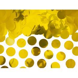 Nagy kerek, fólia arany konfetti, amivel bearanyozhatod a bulit