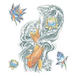 Nagy Tetoválás - Koi Ponty