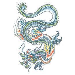 Nagy Tetoválás - Sárkány