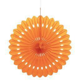 Narancssárga Színű Legyező Függő Dekoráció - 41 cm-es