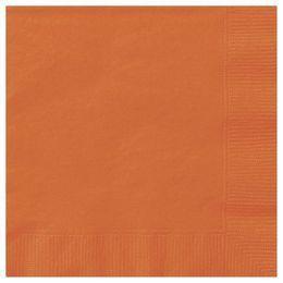 Pumpkin Orange Papír Parti Szalvéta - 33 cm x 33 cm, 20 db-os