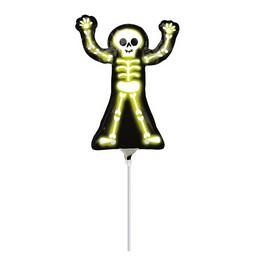 Neon Csontváz Pálcás Lufi, 23 cm